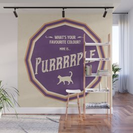 What's your favourite colour? Purrrrple Wall Mural