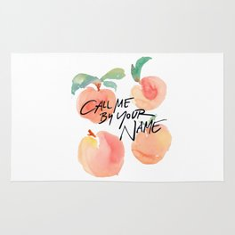 Call Me By Your Name - Peaches Rug