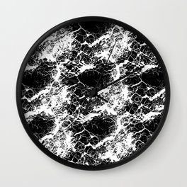 Marble like Brushes Wall Clock