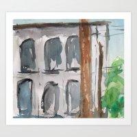 Building No. 4 Art Print