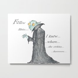 Follow Me, says the Vampire Metal Print
