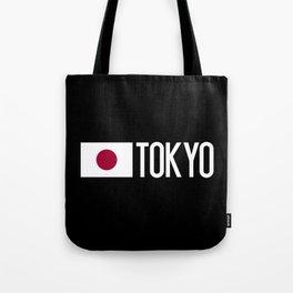 Japan: Japanese Flag & Tokyo Tote Bag