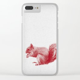 Squirrel 01 Clear iPhone Case