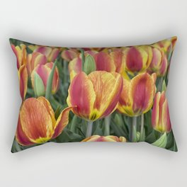 Orange Tulips on Cape Ann Rectangular Pillow