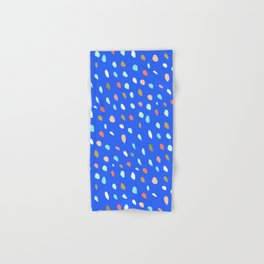 Blue Party Paint Dots Hand & Bath Towel