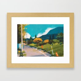 Route 1 - Kanto in real life Framed Art Print