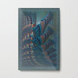 Reaching 3D Abstract Art Metal Print