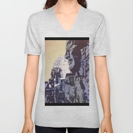 Watercolor of Khmer/Buddhist temple of the Bayon at Angkor Wat ruins- Siem Reap, Cambodia Unisex V-Neck