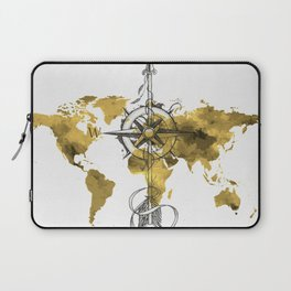 Gold World Map 2 Laptop Sleeve