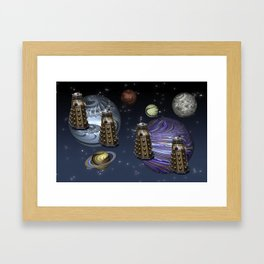 March Of The Daleks Framed Art Print