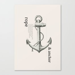Anchor & Rope Canvas Print