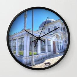 Istanbul Mosque Cat Wall Clock