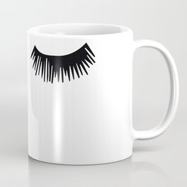 Eyelashes, Fashion, Face, Scandinavian, Minimal, Trendy decor, Wall art Art Print Coffee Mug