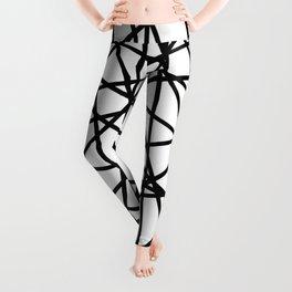 Lazer Dance Black on White Leggings