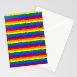 Mini Manhattan Skyline NY Pride Rainbow Stripe Stationery Cards