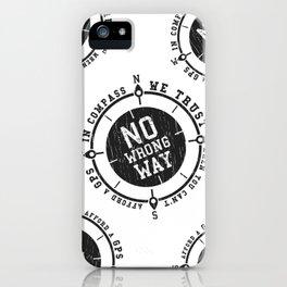 In compass we trust slogan iPhone Case