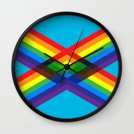 crossing rainbows Wall Clock