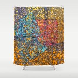 Sunlight Graffitti Shower Curtain