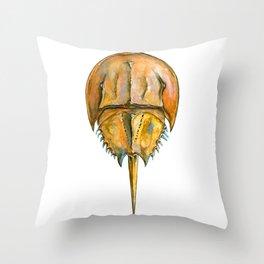 Brown Horseshoe Crab Throw Pillow