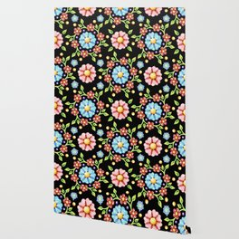 Millefiori Pinwheel Pattern Wallpaper