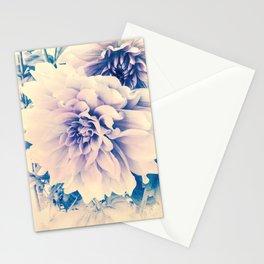 Delicate Beauty (Vintage Blue Lavender Dahlias) Stationery Cards