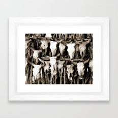Mexican Cow Skulls Framed Art Print