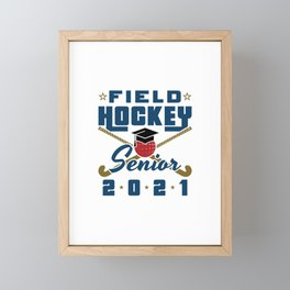 Field Hockey Senior 2021 Framed Mini Art Print