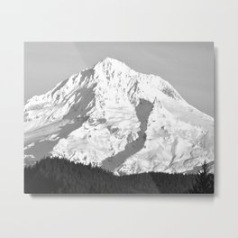 MOUNT HOOD - OREGON - BLACK AND WHITE PHOTOGRAPHY Metal Print