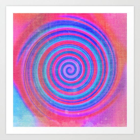 Evening Spiral Art Print