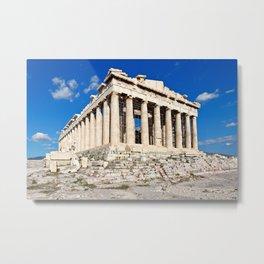 The Parthenon (447 B.C.) on the Athenian Acropolis, Greece Metal Print