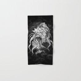 Dark Side Japanese Dragon portrait on black background | Graphit Hand & Bath Towel