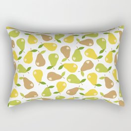 Bitten pears Rectangular Pillow