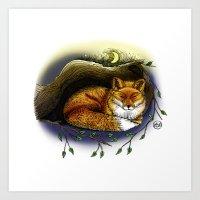 Fox - Colour Art Print