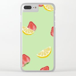 Strawberry Banana Clear iPhone Case