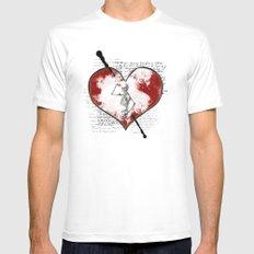 Heart #2 Mens Fitted Tee White MEDIUM