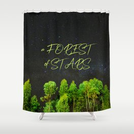 A Forest of Stars Shower Curtain