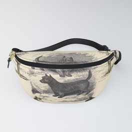 TERRIER DOGS Illustration Fanny Pack