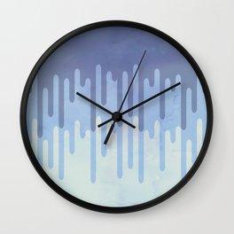 Melting blue Wall Clock