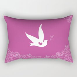 Wings of Love - Purple Rectangular Pillow