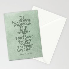 Don't Owe Nobody Shit Stationery Cards