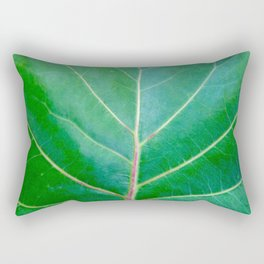 Green Leaf Rectangular Pillow