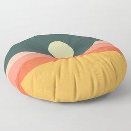 Geometric Landscape 14 Floor Pillow