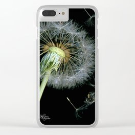 Dandelion Seeds Blowing in the Wind, Scanography Clear iPhone Case