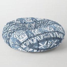Indigo AZTECHIE Aztec Skull Print Floor Pillow