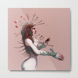 My stigmas are born flowers Metal Print