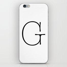 Letter G Typewriting iPhone Skin
