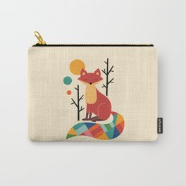 Rainbow Fox Carry-All Pouch