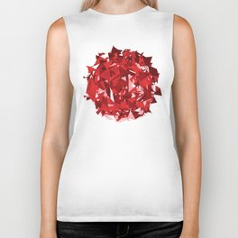 Abstract Red Biker Tank