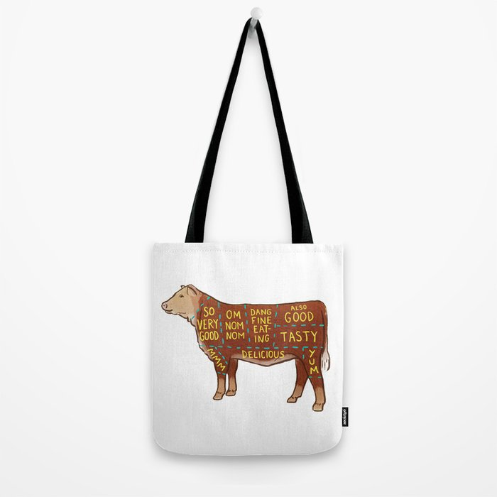 Cow Cuts Tote Bag
