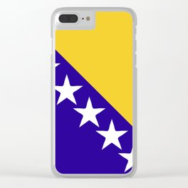 Bosnia and Herzegovina flag emblem Clear iPhone Case